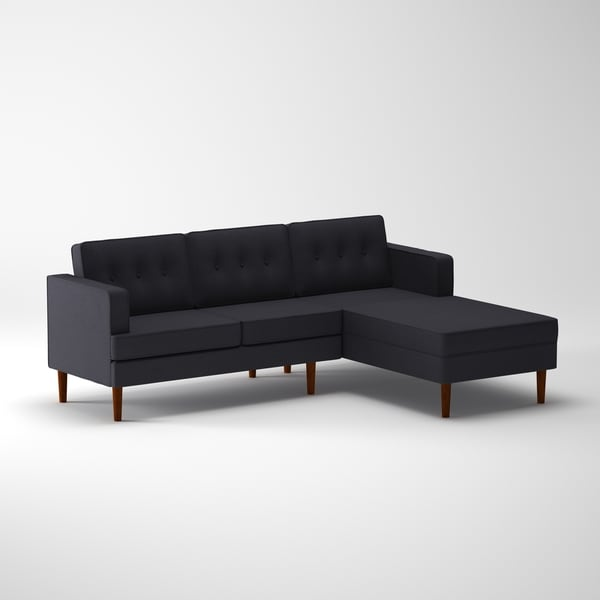 DG Casa Danbury Mid Century Grey Sectional Sofa   Free Shipping Today    Overstock.com   20889707 Part 63