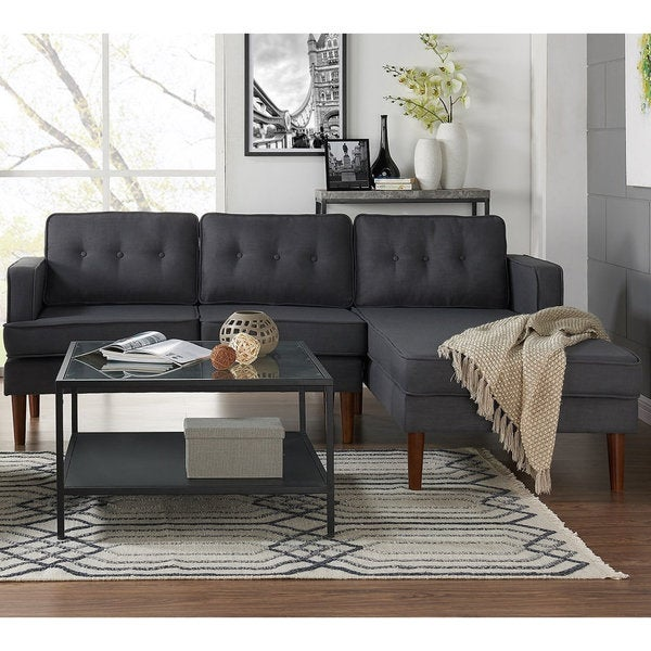 DG Casa Danbury Mid-century Grey Sectional Sofa : sectional sofa overstock - Sectionals, Sofas & Couches