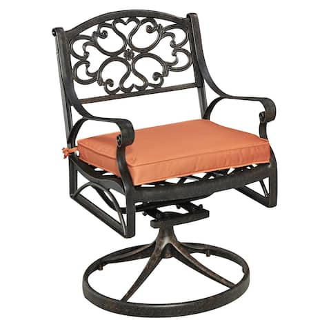 Biscayne Rust Bronze Swivel Rocker with Cushion by Home Styles