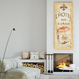 Wexford Home 'Hotel Sur La Plage' Premium Gallery Wrapped Canvas Wall Art