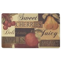 "Chef Gear Scrumptious Fruit Anti-Fatigue Gelness Comfort 18 x 30 in. Chef Mat - 1'5"" x 2'5"""