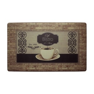 """Chef Gear Cafe Bistro Anti-Fatigue Gelness Comfort Chef Mat - 1'5"""" x 2'5"""""""