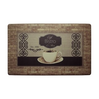 "Chef Gear Cafe Bistro Anti-Fatigue Gelness Comfort Chef Mat - café bistro - 1'5"" x 2'5"""