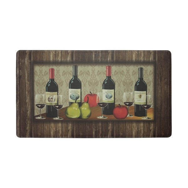 "Chef Gear Sophisticated Wine Anti-Fatigue Gelness ComfortChef Mat (1'5"" x 2'5"")"