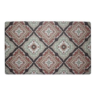 Laura Ashley Allie Multicolor PVC Anti-fatigue Memory Foam Kitchen Mat (1'5 x 2'5)