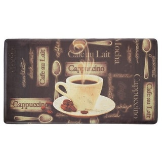 "Chef Gear Cafe Au Lait Anti-Fatigue Gelness Comfort Chef Mat - café au lait - 1'5"" x 2'5"""