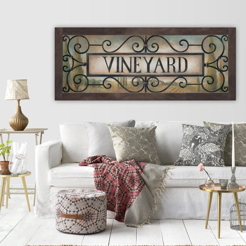 Wexfore Home 'Vineyard' Premium Gallery Wrapped Canvas Artwork (3 Sizes Available)