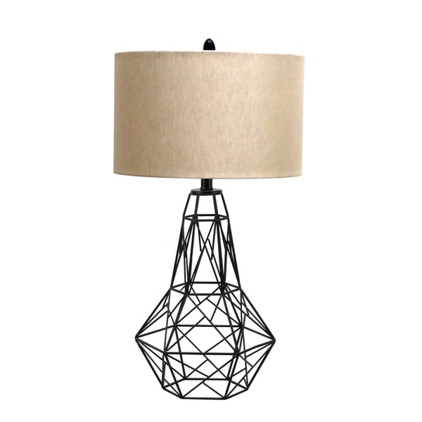 30-inch Table Lamp with Metal Frame Base