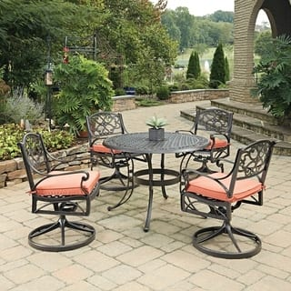 Biscayne Rust Bronze Round 5 Pc Outdoor Dining Table & 4 Swivel Rocking Chairs with Cushions by Home Styles|https://ak1.ostkcdn.com/images/products/14307833/P20889864.jpg?impolicy=medium