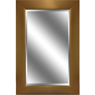 Reflection Gold-framed Beveled Wall Mirror