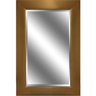 Y-Decor REFLECTION 24 x 36 x 1-inch Bevel Mirror with 3.75-inch Gold Finish Frame