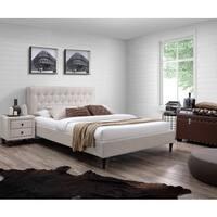 DG Casa Emilia Beige Wood Queen Size Bed