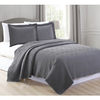 Vanessa Collection 3-piece Stonewashed Microfiber Quilt Set