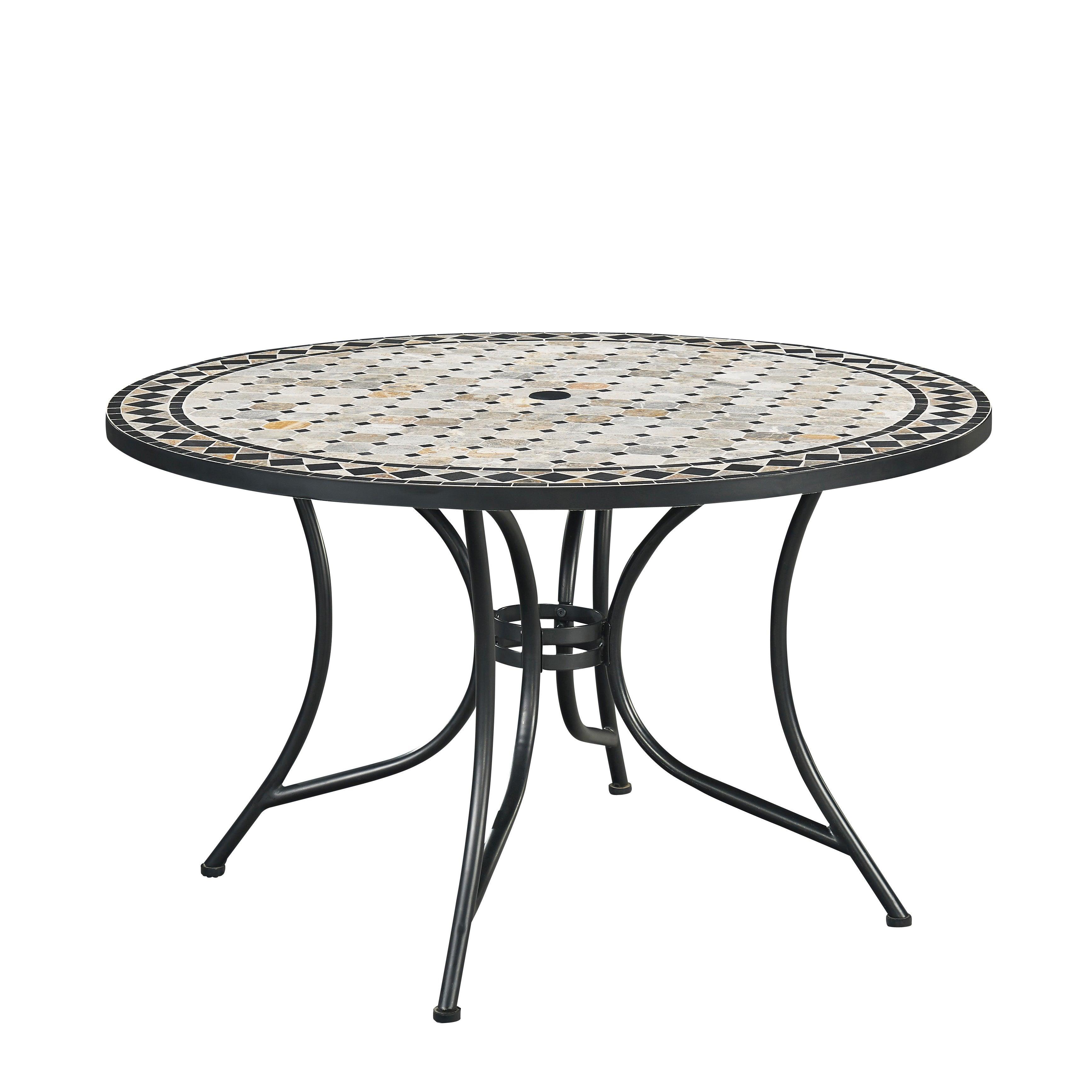 Marble Top Round Outdoor Dining Table by Home Styles (Mar...
