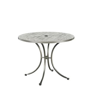 Umbria Concrete Tile Round Outdoor Table by Home Styles