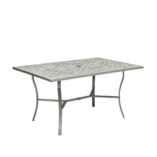 Umbria Concrete Tile Rectangular Outdoor Table by Home Styles