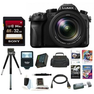 Panasonic LUMIX DMC-FZ2500 21.1 MP Digital Camera 3 inches LCD 20X LEICA VARIO-ELMART F2.8-4.5 Lens Bundle (Black)
