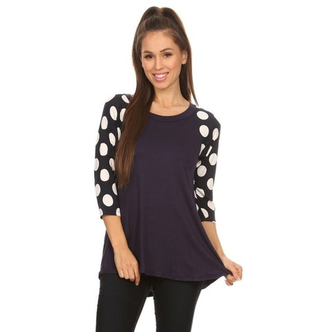 Women's Polka Dot Sleeve Tunic