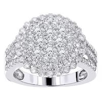 Luxurman 14k White Gold 1 3/5ct TDW White Diamond Ring