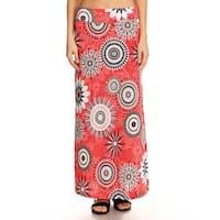 Women's Abstract Medallion Maxi Skirt