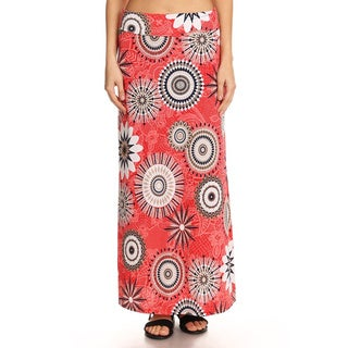Women's Abstract Medallion Maxi Skirt