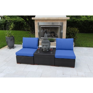 Anne 3 Piece Deep Seating Set with Sunbrella Fabric