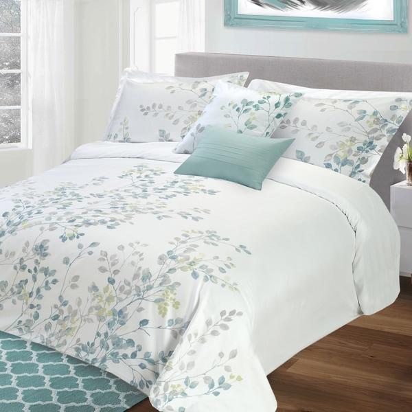 Lauren Taylor Bloom 5-piece Cotton Duvet Cover Set
