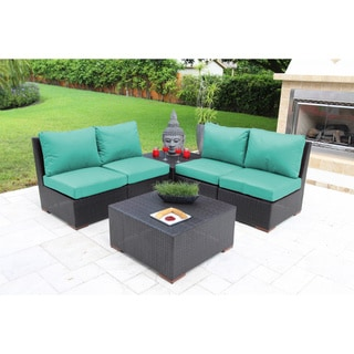Andover 6 Pc. Sectional Seating Set with Sunbrella Fabric