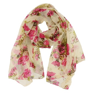 LA77 Bundle of Flowers Print Scarf