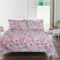 Martha Floral 3-piece Quilt Set