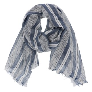 LA77 Multicolored Lightweight Striped Scarf (5 options available)