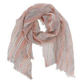 LA77 Multicolored Lightweight Striped Scarf