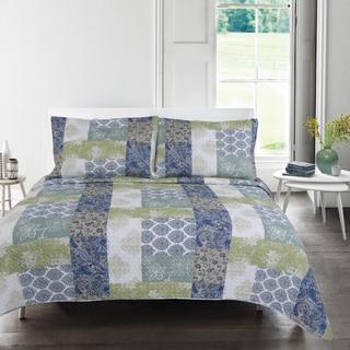 Nicole Floral 3-piece Quilt Set