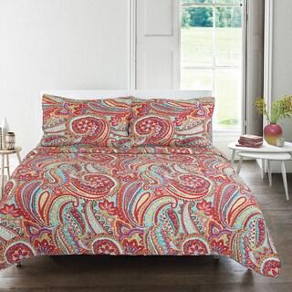 Tara Paisley 3-piece Quilt Set
