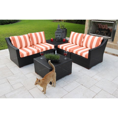 Anne 6 Piece Deep Seating Sectional Set with Sunbrella Fabric