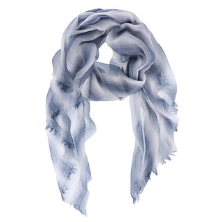 LA77 Multicolor Viscose Woven Striped Scarf