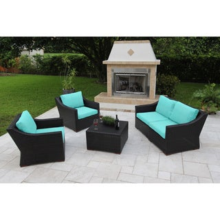 Anne 5 Piece Deep Seating Sofa Set with Sunbrella Fabric