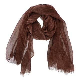 Solid Color Viscose Scarf (Option: Brown)