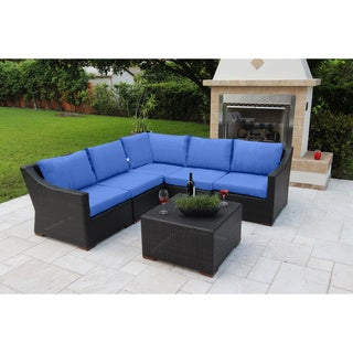 Anne 6 Piece Conversation Sectional Seating Set with Sunbrella Fabric