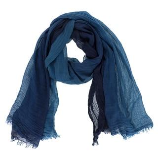 LA77 Blue Rayon Ombre Scarf
