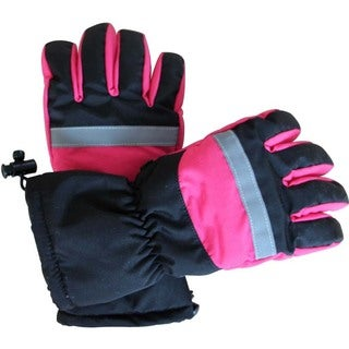 iPM Women's Pink and Black Cotton and Nylon Battery-heated Gloves