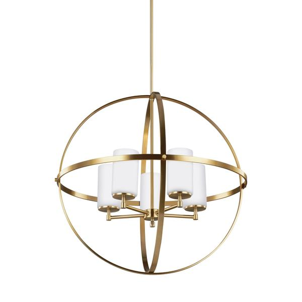 Sea Gull Alturas 5 Light Satin Bronze Chandelier