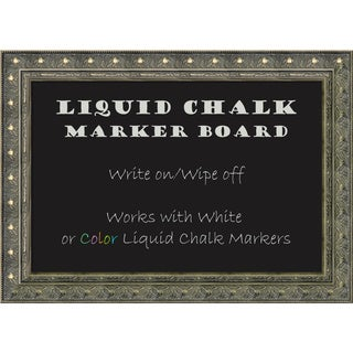 Framed Liquid Chalk Marker Board Medium, Barcelona Champagne 28 x 20-inch