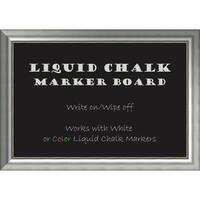 Framed Liquid Chalk Marker Board, Vegas Burnished Silver