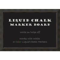 Framed Liquid Chalk Marker Board, Signore Bronze
