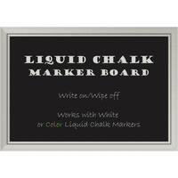 Framed Liquid Chalk Marker Board, Romano Silver