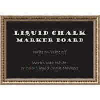 Framed Liquid Chalk Marker Board, Fluted Champagne