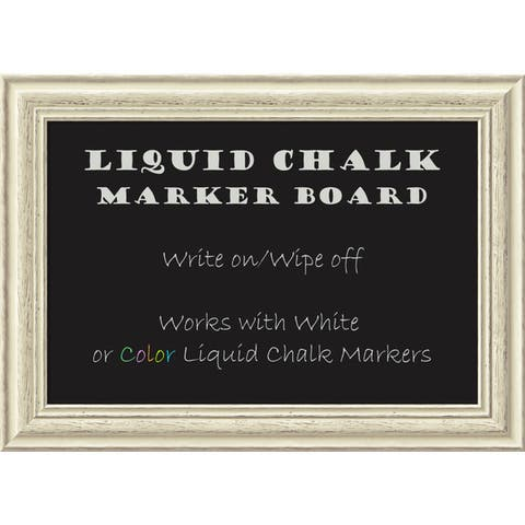 Framed Liquid Chalk Marker Board, Country White Wash