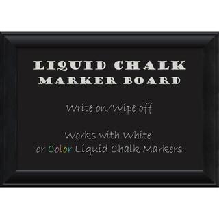 Framed Liquid Chalk Marker Board, Nero Black