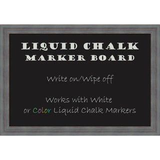 Framed Liquid Chalk Marker Board, Dixie Grey Rustic
